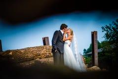 Com o `do vestido de casamento foto de stock royalty free