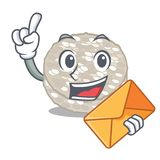 Com os bolos de arroz do envelope na forma dos desenhos animados ilustração do vetor
