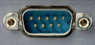 Com-port o conector Imagens de Stock