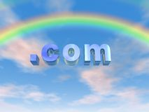 com-regnbåge Arkivbilder