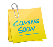 Comí soon memo post sign concept Stock Photography