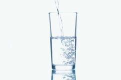 Com um vidro da água Foto de Stock Royalty Free