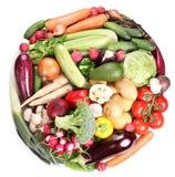 Com vegetais em um círculo Foto de Stock Royalty Free