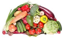 Com vegetais em um semicircle Fotos de Stock
