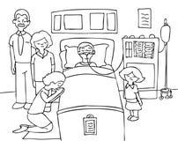 Coma Child - black and white Stock Image