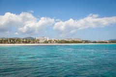 Coma de SA, Majroca, Espagne - 24 avril 2014 : Une vue de la station de vacances Image stock