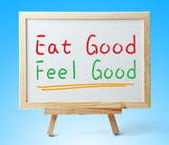 Coma el buen sentir bien Foto de archivo libre de regalías