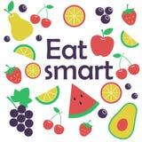 Coma el concepto elegante Frutas stock de ilustración