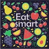Coma el concepto elegante Frutas libre illustration