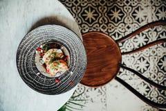 Coma la comida en Casco Viejo, parte 14 de Panamá foto de archivo libre de regalías