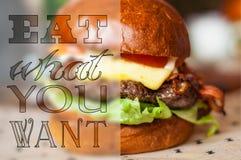 Coma lo que usted quiere Imagen de archivo