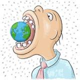 Coma o mundo ilustração do vetor