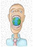 Coma o mundo ilustração royalty free