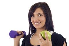 Coma para a direita & exercite Imagens de Stock