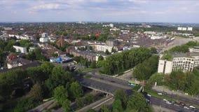 Coma a parte superior de Alemanha da cidade video estoque