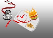 Coma refeições de escola saudáveis ilustração royalty free