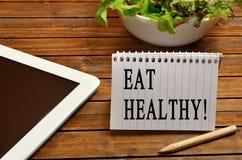 Coma saudável! imagem de stock
