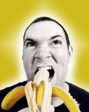 Coma un plátano Imágenes de archivo libres de regalías