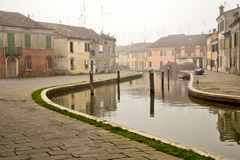 Comacchio är en stad i Emilia Romagna & x28; Italy& x29; Arkivfoton