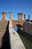 Comacchio. (Fe),Emilia romagna,Italy,the bridge of Trepponti,built in 1634 Royalty Free Stock Images