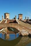 Comacchio. (Fe),Emilia romagna,Italy,the bridge of Trepponti,built in 1634 Royalty Free Stock Image