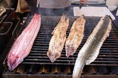 Comacchio, Aale gekocht auf dem Grill Stockfoto