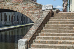 Comacchio - Bridge. Comacchio (Ferrara, Emilia Romagna, Italy) - Bridge over a canal Stock Photography