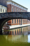 Comacchio - Bridge. Comacchio (Ferrara, Emilia Romagna, Italy) - Bridge over a canal Stock Photos