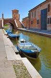 Comacchio. Emilia-Romagna. Italië. Royalty-vrije Stock Foto