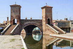 Comacchio - Famous bridge. Comacchio (Ferrara, Emilia Romagna, Italy) - Famous bridge called Trepponti Stock Photography