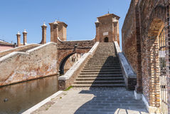 Comacchio - Famous bridge. Comacchio (Ferrara, Emilia Romagna, Italy) - Famous bridge called Trepponti Stock Images