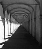 Comacchio, Itália, arcada da colunata Fotografia de Stock