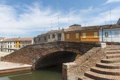 Comacchio (Italien) Lizenzfreies Stockfoto