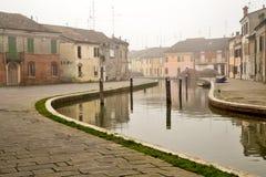 Comacchio jest miasteczkiem w Emilia Romagna & x28; Italy& x29; Zdjęcia Stock