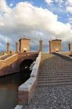 Comacchio, pont de trepponti Ferrare, Italie Photographie stock