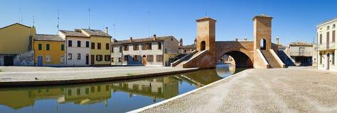 Comacchio, Włochy Mały Wenecja Emilia Romagna obraz royalty free