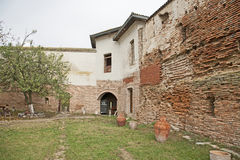 Comana church old wall ruins Royalty Free Stock Photo