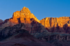 Comanche Point. In Grand Canyon National Park as seen from Tanner Beach at sunrise Royalty Free Stock Photography