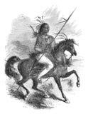Comanche warrior royalty free illustration