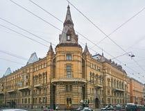 Comanda al club del ` del distretto militare in San Pietroburgo, Russia di Lenigradsky Immagini Stock