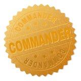 COMANDANTE Award Stamp do ouro ilustração royalty free