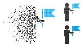 Comandante de intervalo mínimo dispersado Icon da criança de Pixelated ilustração royalty free