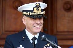 Comandante de la Academia Naval de la marina italiana Imagenes de archivo