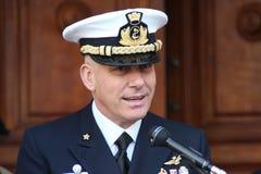 Comandante de la Academia Naval de la marina italiana Foto de archivo libre de regalías