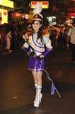 Comandante de tambor de la venda musical para la procesión Foto de archivo