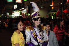 Comandante de tambor de la venda musical para la procesión Imágenes de archivo libres de regalías