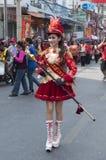 Comandante de tambor de la venda musical para la procesión Imagenes de archivo