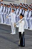 Comandante del desfile y contingente del guardar-de-honor Fotografía de archivo libre de regalías