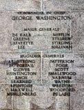 Comandante e generais da guerra de revolucionário americano Fotografia de Stock