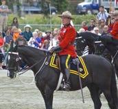 Comandante musicale di giro di RCMP fotografia stock libera da diritti